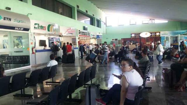 Central de Autobuses reporta número de  pasajeros para este 24 de diciembre