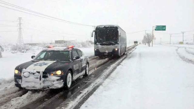 Alertan por nevadas y frío a  estados del norte del país