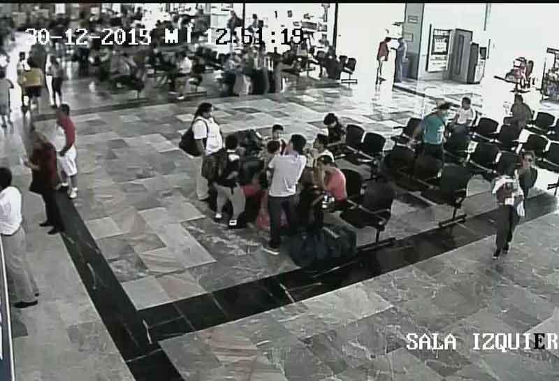 Sin mucha afluencia de pasajeros el día de hoy en la central de autobuses