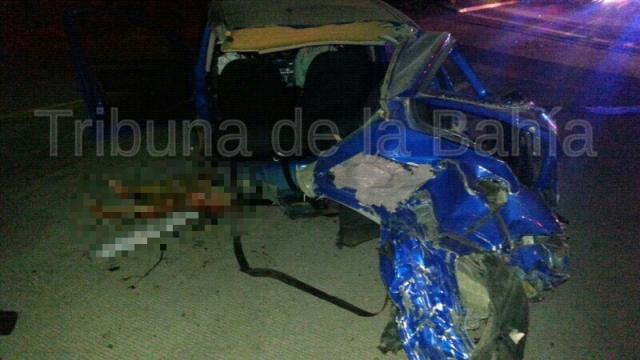 Fatal accidente en La Cruz de Huanacaxtle dos personas muertas.