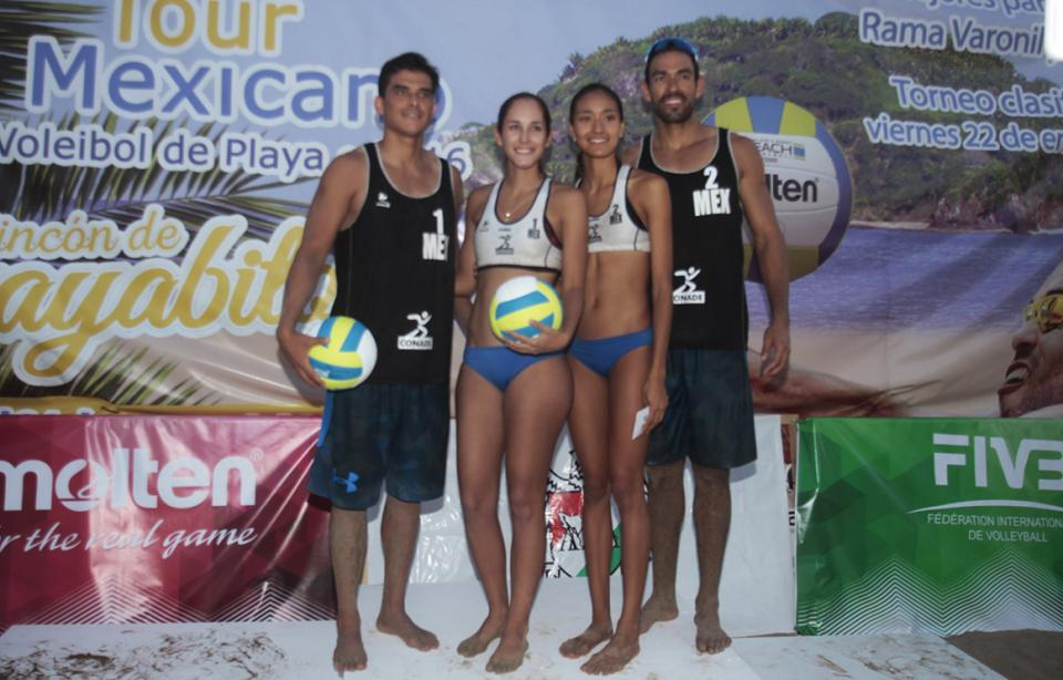 Adrenalina y emoción en las finales  del voleibol de playa en Guayabitos