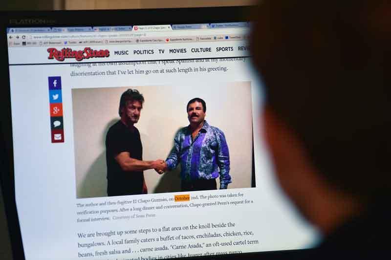 """Mientras lo buscaban, """"El Chapo"""" daba  entrevista a Sean Penn y Kate del Castillo"""