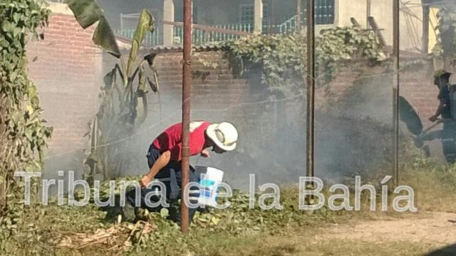 Se incendia lote baldío en Colonia Cristobal Colón