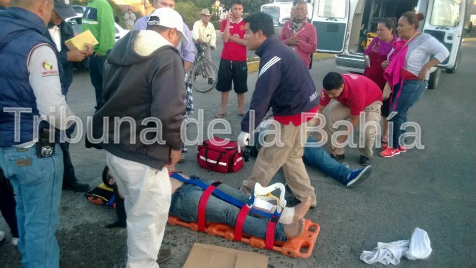 Dos lesionados por corte de circulación en San José Nayarit