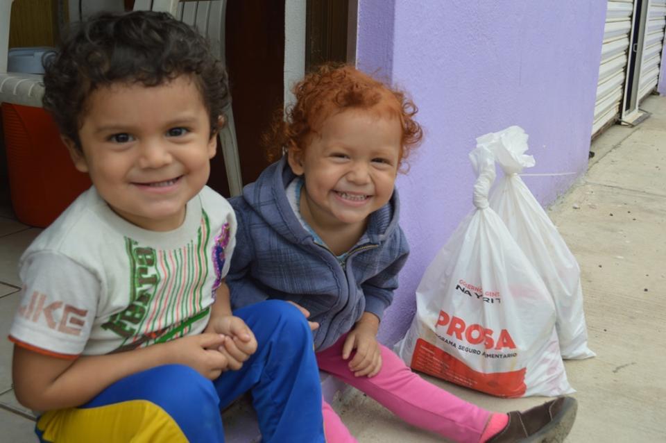 Continúa entrega de despensas del  Programa Menores de 5 Años en Riesgo