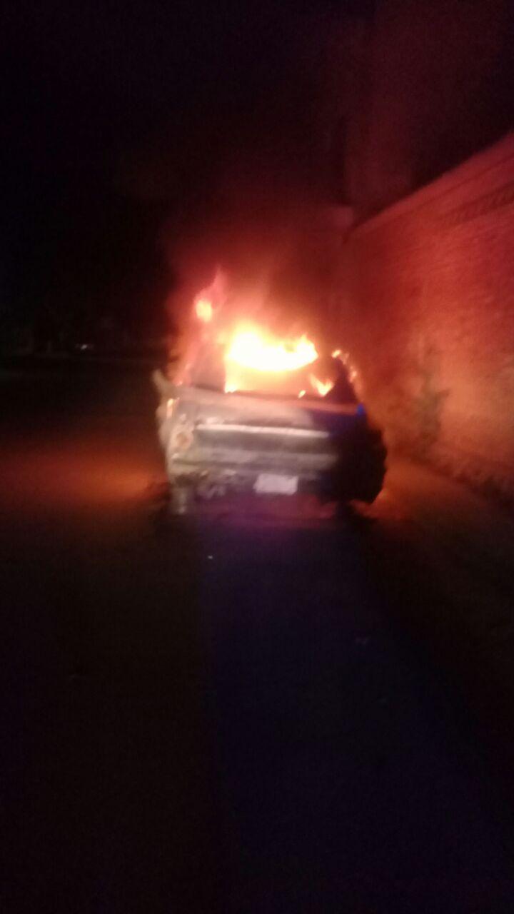 Se incendia Pointer y le prenden fuego a Chevrolet