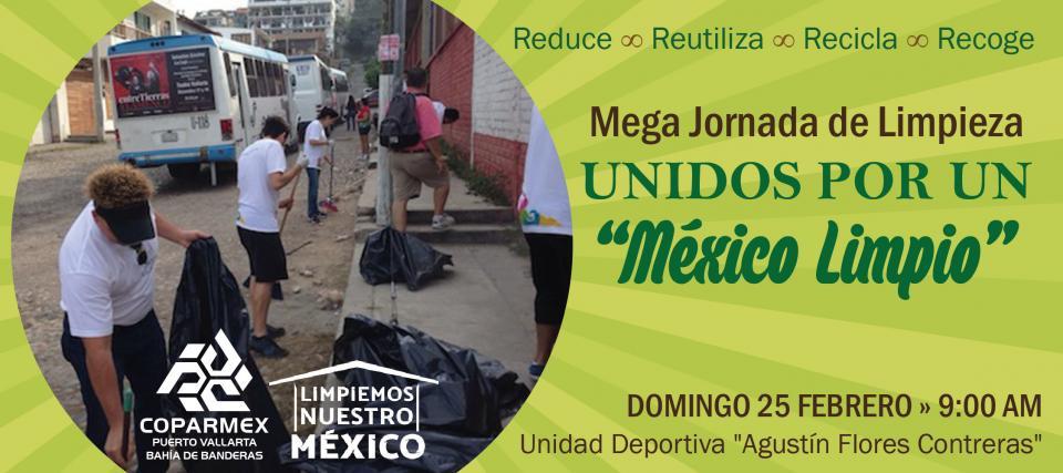"""Convocan a limpiar Vallarta  con """"Limpiemos México"""""""