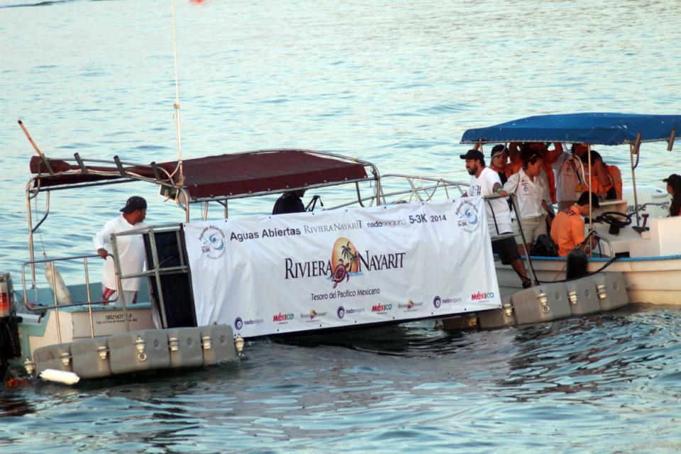 Nado en aguas abiertas  en Matanchén, Nayarit