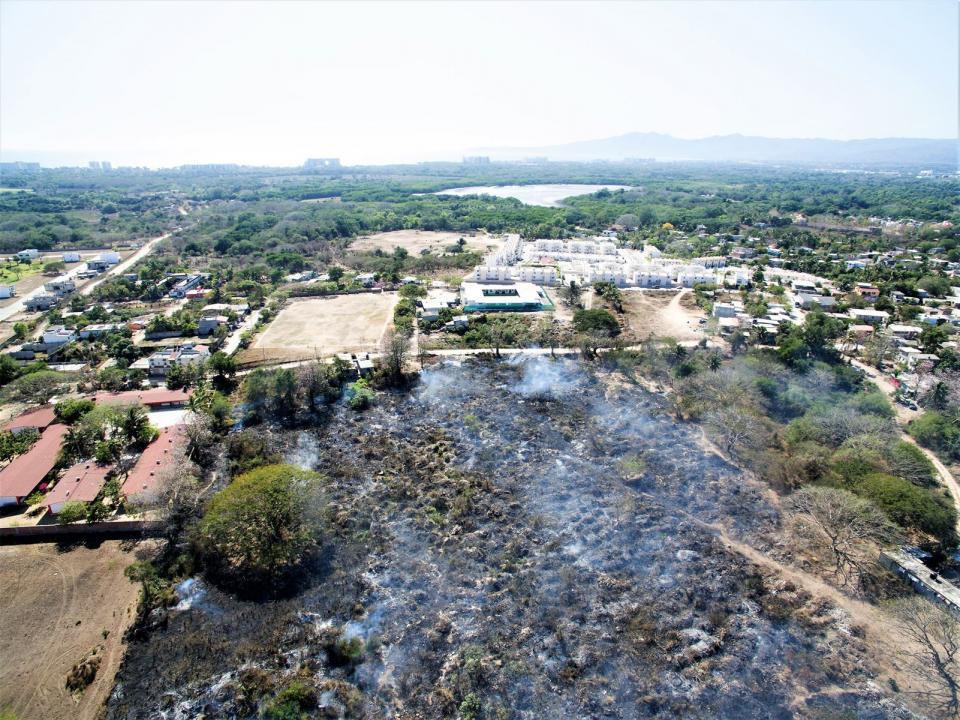 Exhorta Protección Civil a evitar  quema de predios urbanos