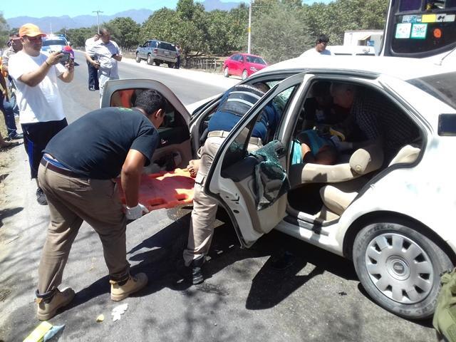 Fuerte accidente en  San José del Valle