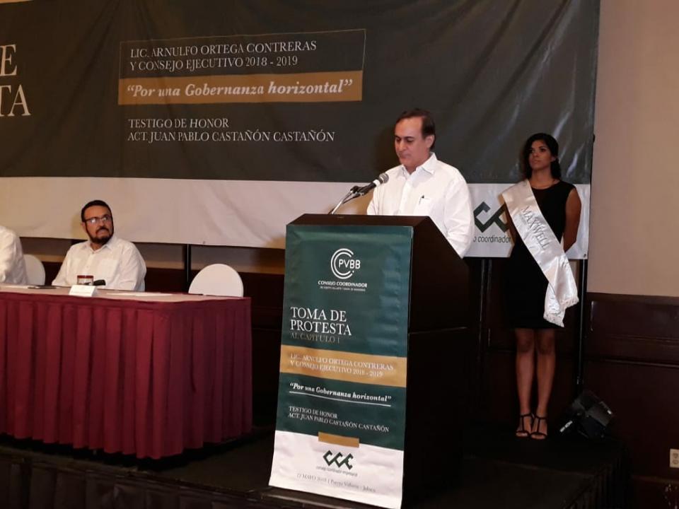 Rinde protesta Arnulfo Ortega como  presidente del Consejo Empresarial