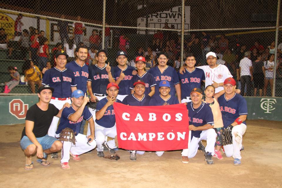 EN LA TERCERA FUERZA DEL SOFTBOL…    Cabos ya es ¡bicampéon!