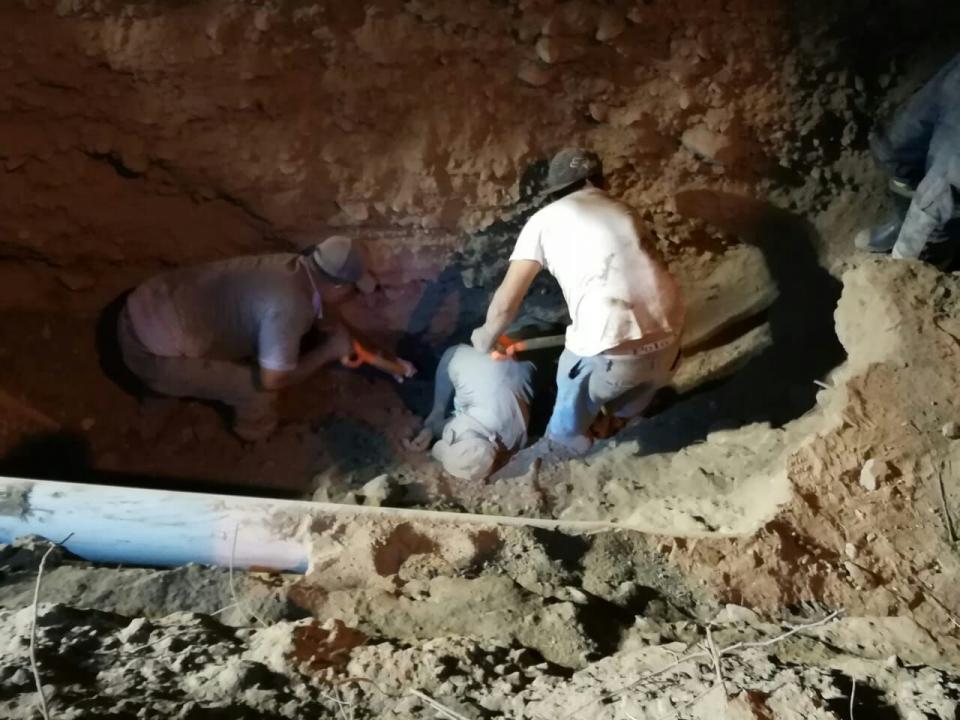 Diez horas de infierno  vivió hombre sepultado