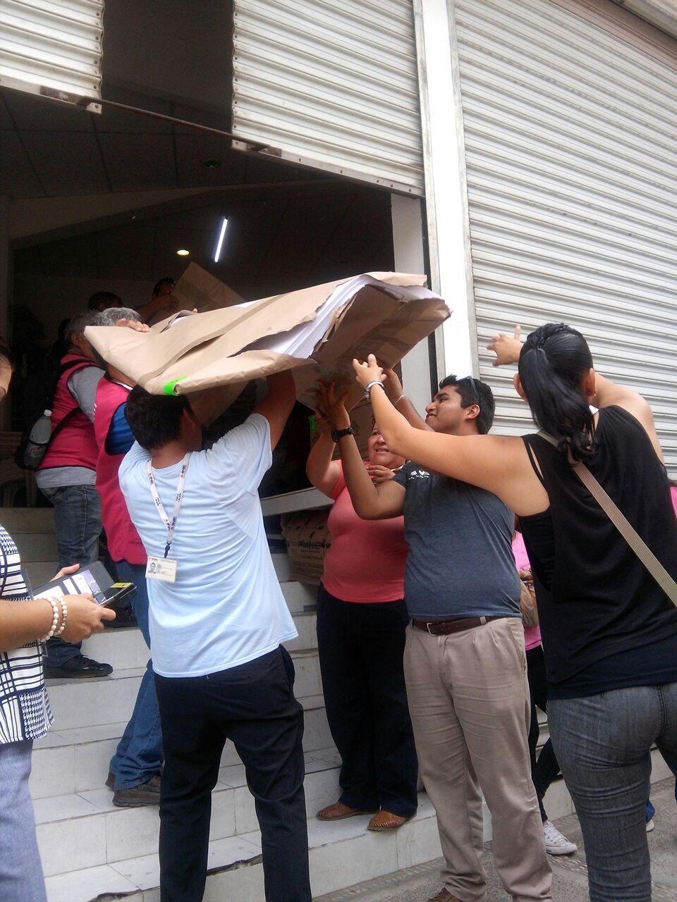 Resguardan papelería  electoral en bodega del INE