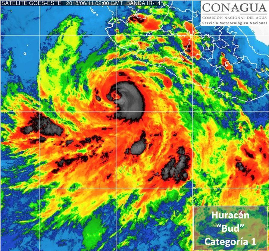 Bud se convierte en  huracán categoría 1