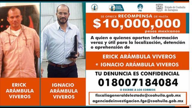 Busca Coahuila a dos  por crimen de Purón