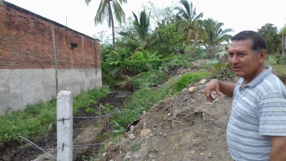 San Juan con riesgo de inundación,  por construcciones en drenes