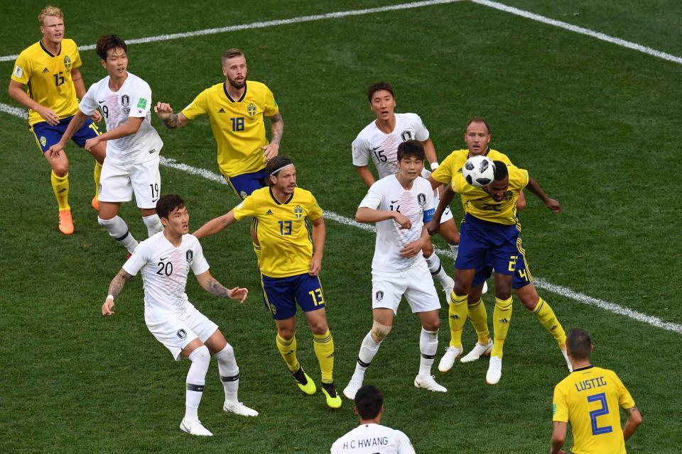 Con penal revisado por el VAR,  Suecia derrota a Corea del Sur