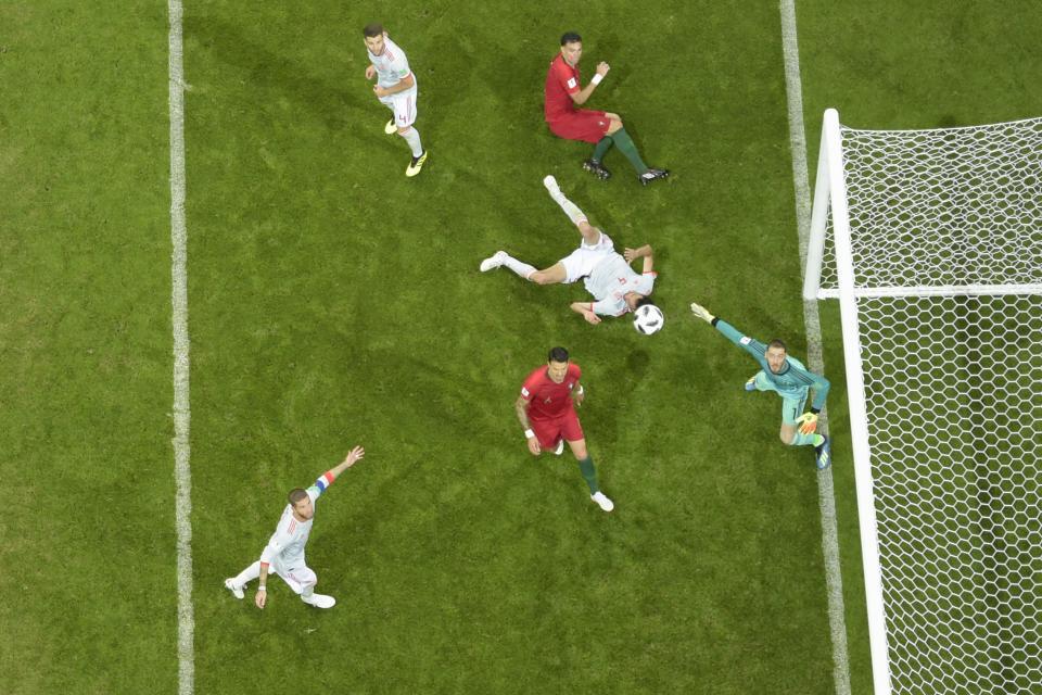 Primer partidazo del Mundial:  España contra Portugal 3-3