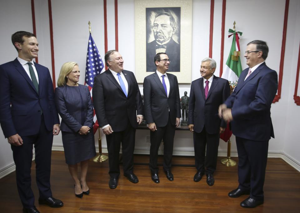 Entrega AMLO a Pompeo propuesta  para agenda bilateral con los EU