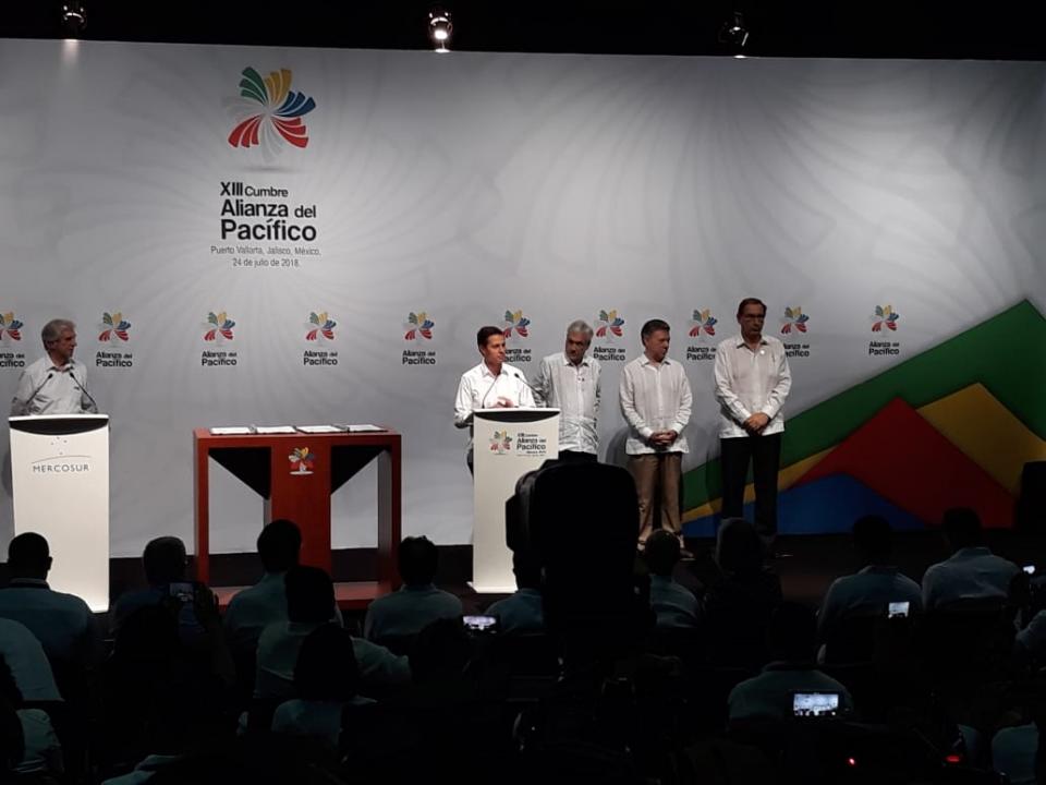 Alianza del Pacifico y Mercosur refrenda el libre comercio