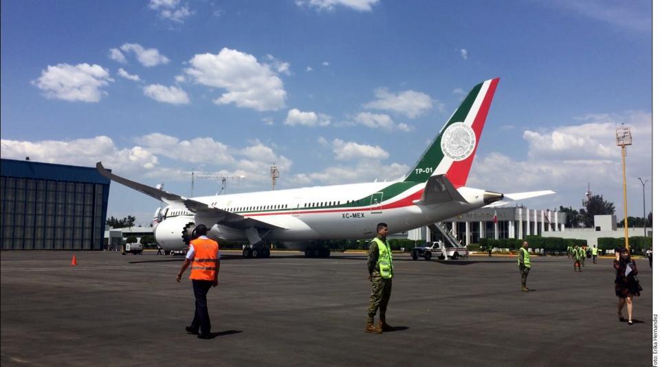 Falla por primera vez  el avión presidencial