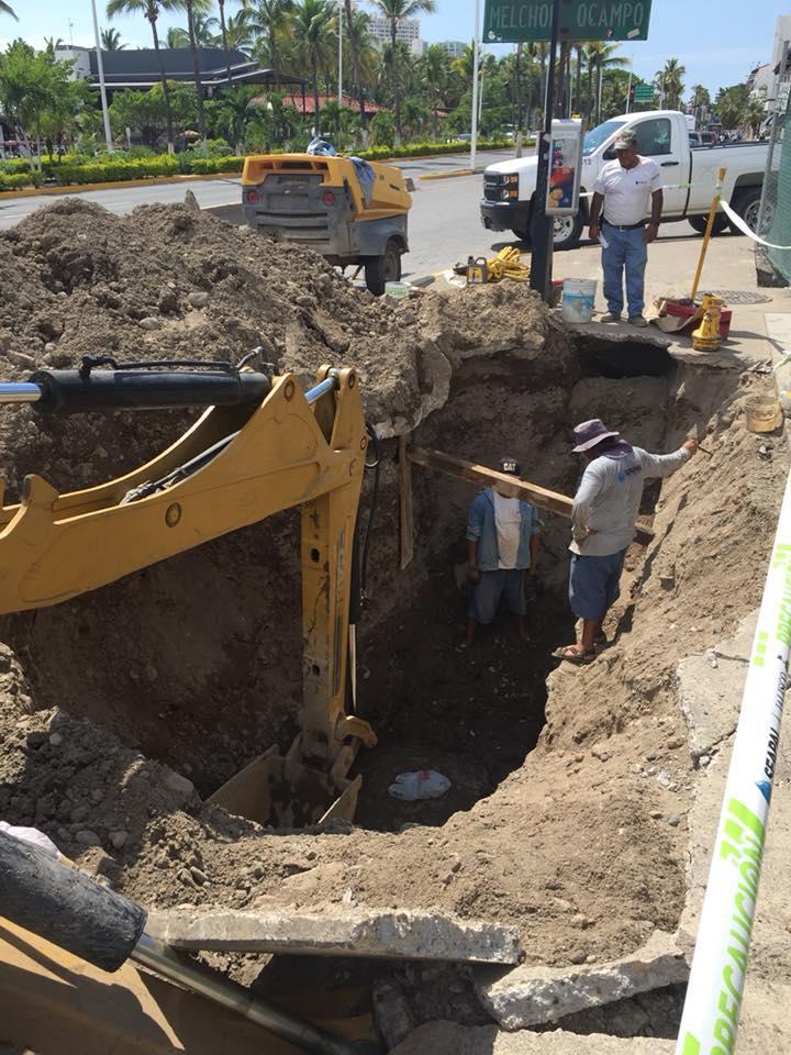 Realiza Seapal trabajos en  la red de agua potable