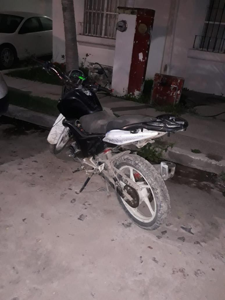 Recuperan moto robada