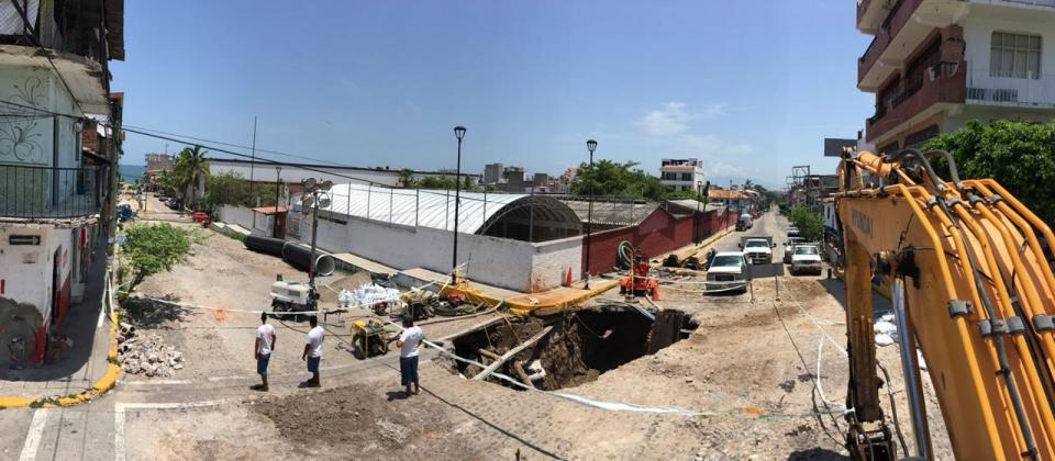 Informa Seapal  Concluye reparación del Colector Centro - Norte en la 5 de Diciembre