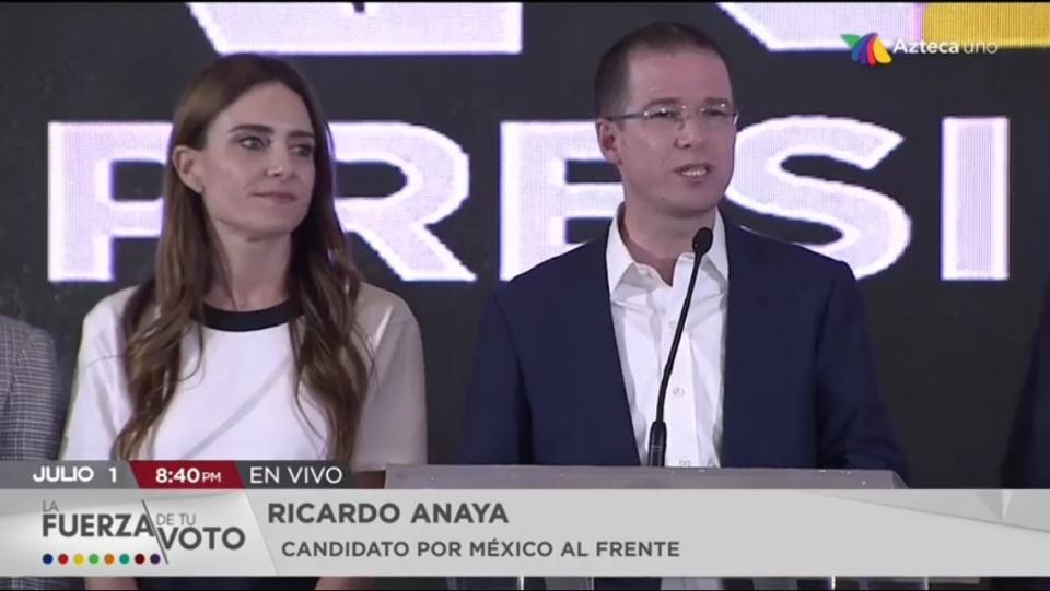 Ricardo Anaya Reconoce tendencia le favore a Andres Manuel
