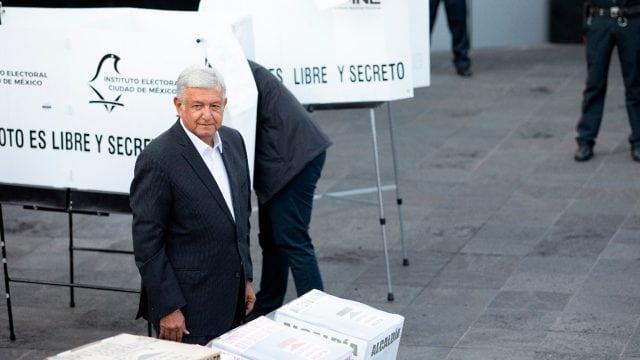 Así votó Andrés Manuel López Obrador