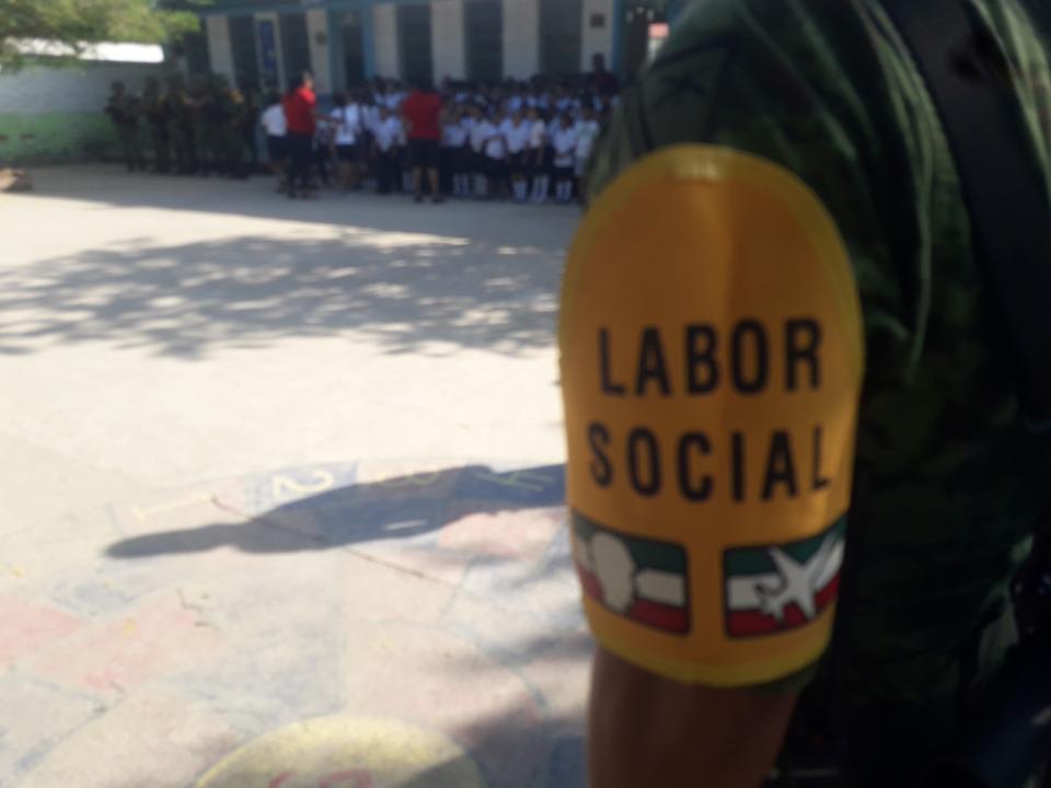 Lleva Sedena a escuelas campañas Labor Social y Juguemos sin Violencia