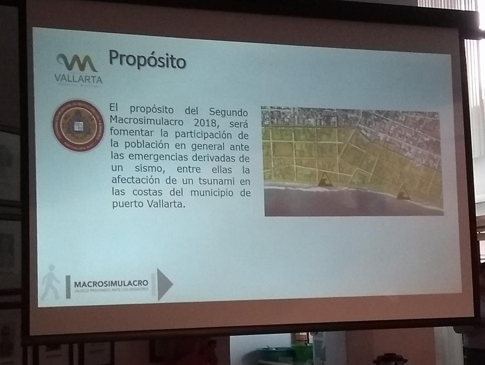 Anuncian Macrosimulacro en  Vallarta el 19 de septiembre