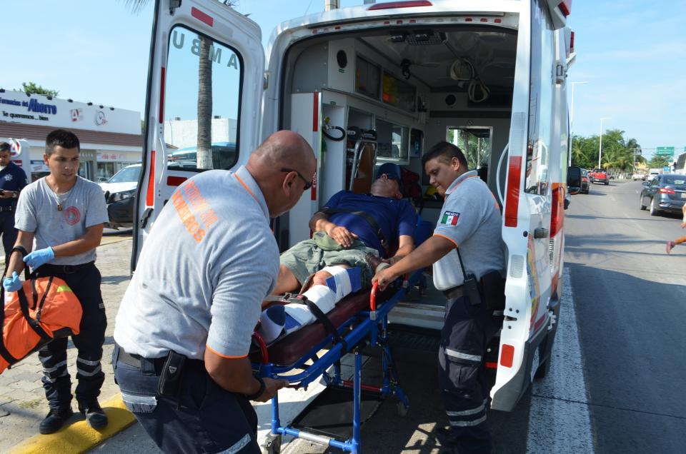 Ciclista cae  y se fractura