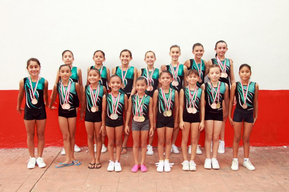 Gimnasia Artística…  Volvieron con 26 medallas