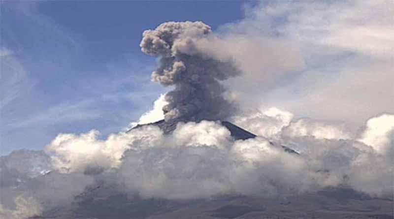 Ocurrió una explosión en el volcán Popocatépetl esta madrugada