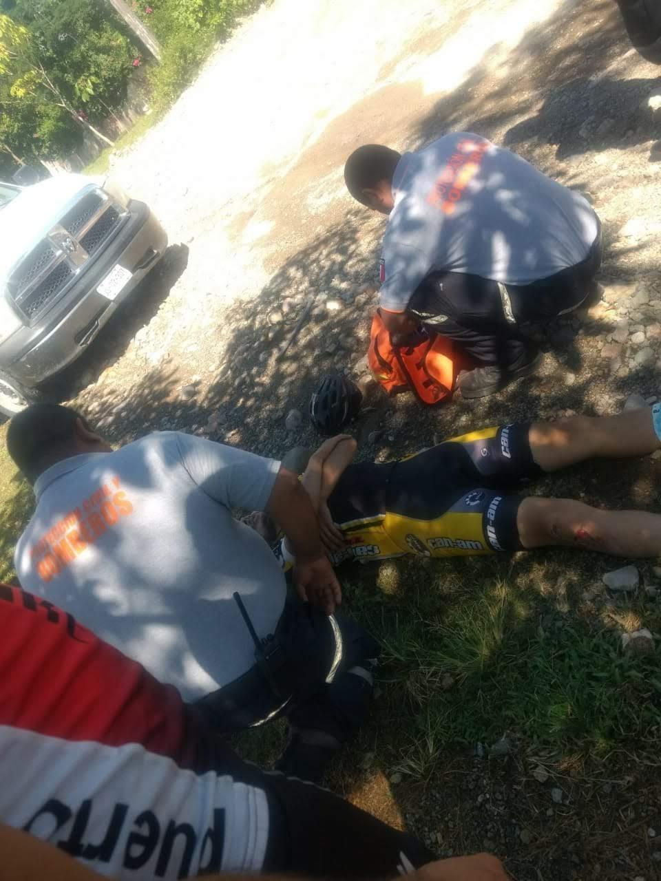 Ciclista lesionado al derrapar