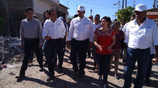Logra Toño 39 millones de pesos para  limpieza de calles en zonas de desastre