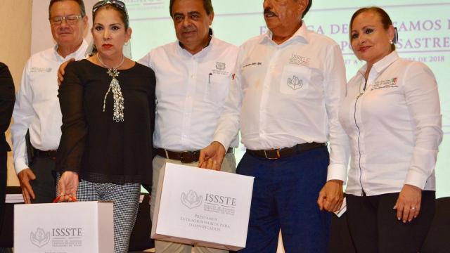 Entregará el ISSSTE apoyos y  Créditos a damnificados en Nayarit