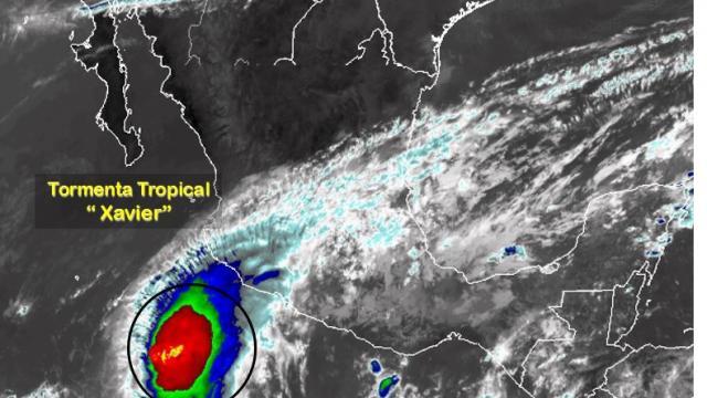 Meteorológico mantiene zona de vigilancia por tormenta tropical Xavier