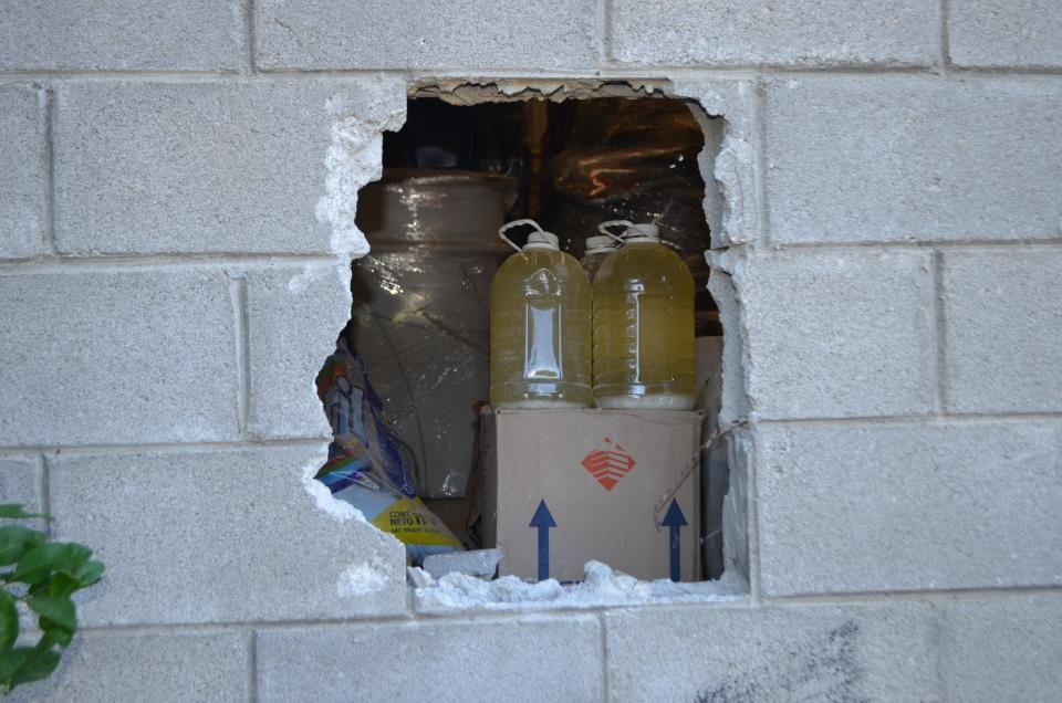 """""""Boquetean"""" pared de empresa en  Las Juntas y se llevan $100 mil"""