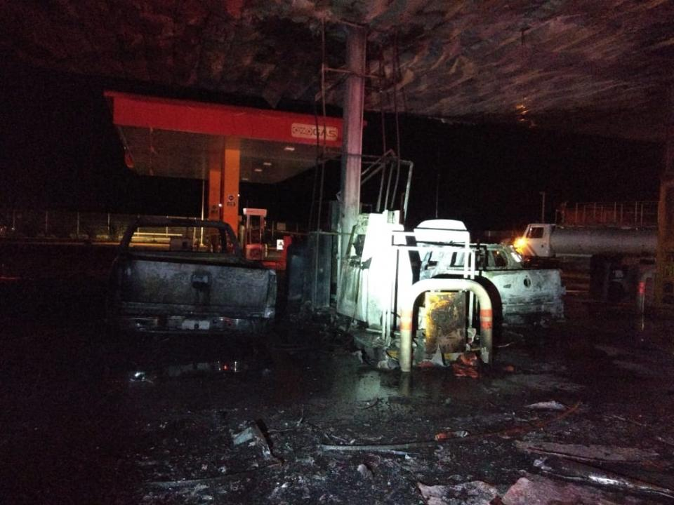 Registran incendio de  gasolinera en Ocotlán