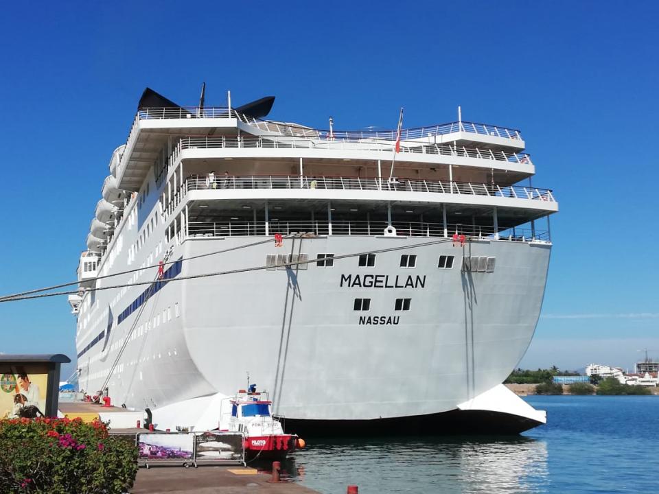 Dan bienvenida al crucero Magellan