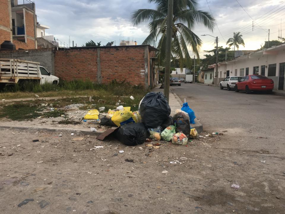 Da la basura acumulada un mal  aspecto en la colonia Educación