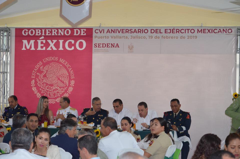 Celebran 106 aniversario  del Ejército Mexicano