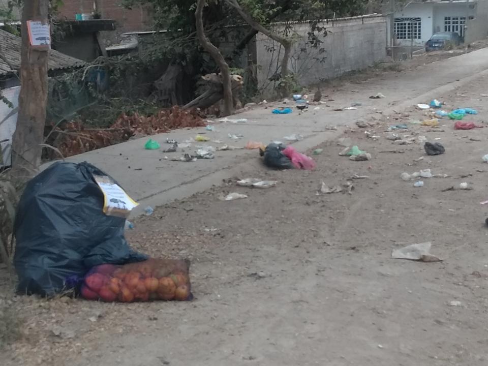 Molestos vecinos por la basuraen la colonia Santa María
