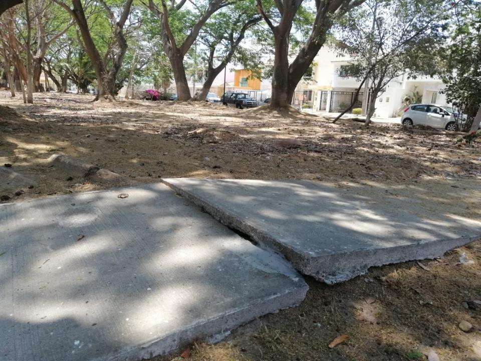 Fraccionamiento Jardines de Gaviotas conun parque que no hace honor a su nombre
