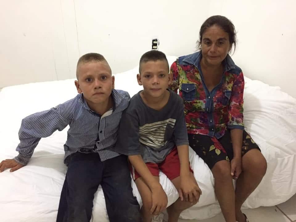 Doña Estela y su familia, ya seencuentra en un lugar seguro