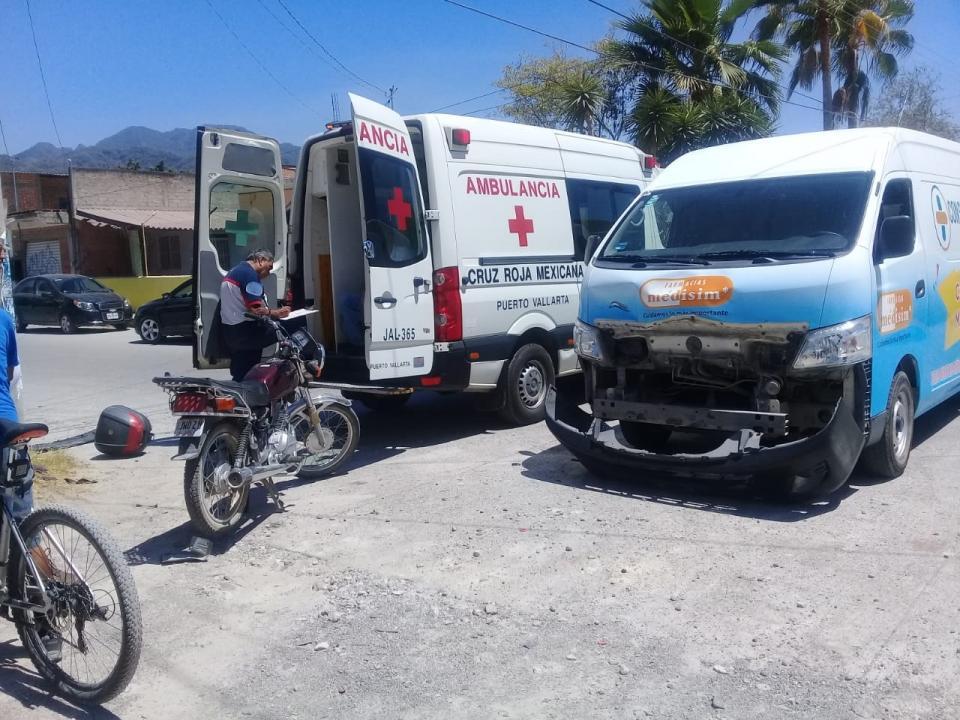 Se registran cuatro accidentesde motos en diferentes puntos