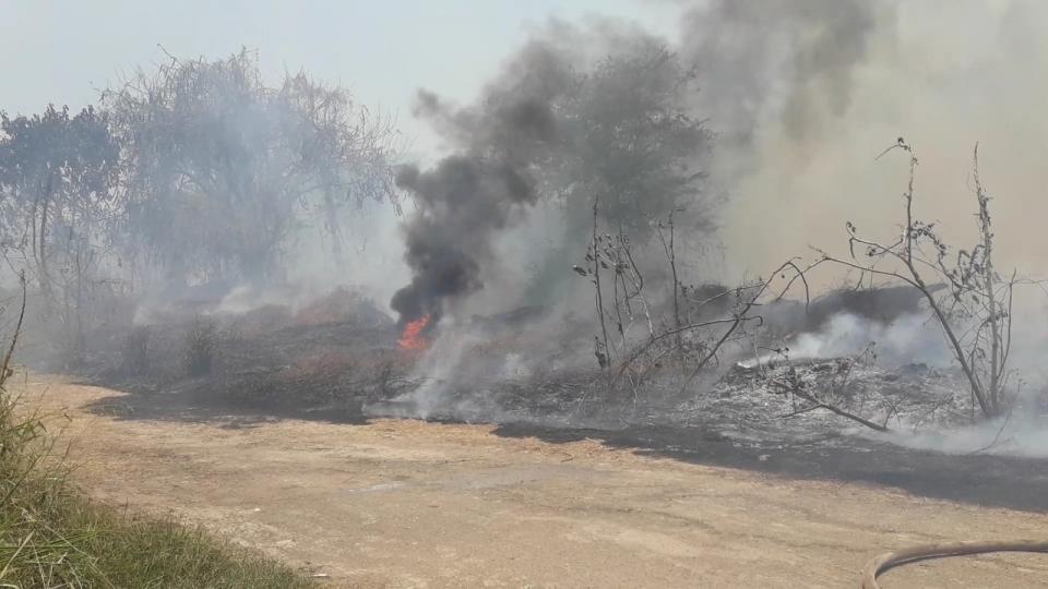 Molesto incendio en Fluvial